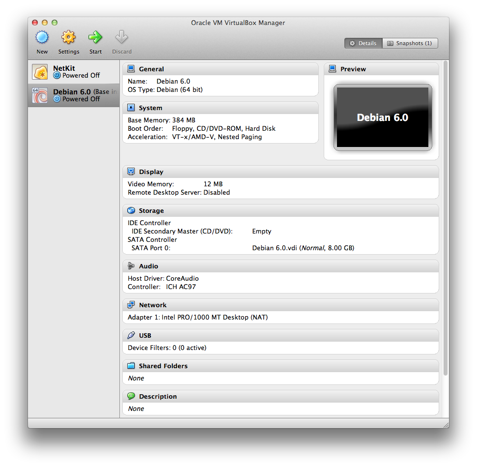 A41 Oracle VM VirtualBox Manager