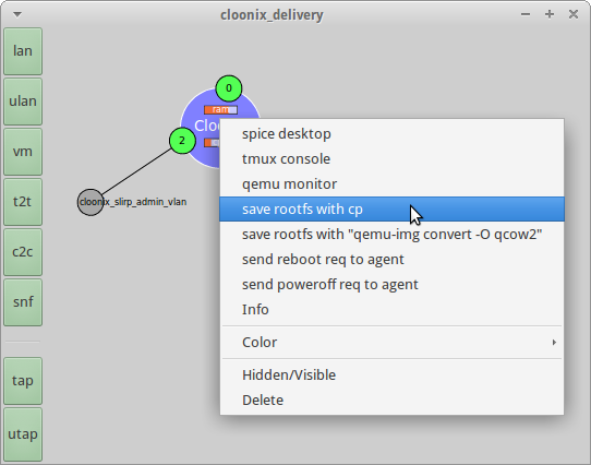 Upgrade a guest VM in the cloonix network simulator | Open