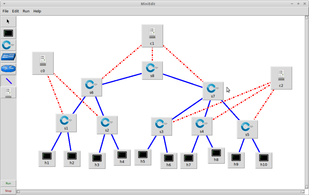 how to connect mininet network using a controller